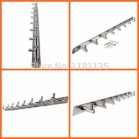 Wholesale New Hooks SS Grade Stainless Steel Coat Robe Hat Clothes Towel Wall Hanger Rack