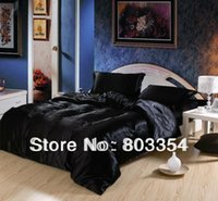 Wholesale Silky Queen King size Imitation silk bedding set bed linen bedclothes bedspread bed sheet duvet cover home textiles