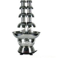 Wholesale Free Fedex inches Stainless Steel Double Chocolate Fondue Fountain Months Warranty