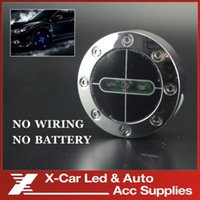 Wholesale 2Pcs Car Decoration Waterproof Flash Wheel light Storbe Color LED Car Light Rolling Fire lamp No Wiring No Battery