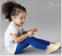 children tight pant - 2015 Girls Leggings Fashion Candy color Children Leggings Good Quality Kids Pants Pencil Pants Mix Random Colour