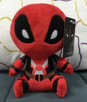 Unisex Big Kids Movies & TV Deadpool Plush toys dolls Marvels Deadpool Stuffed Dolls 20CM Cartoon plush toys Deadpool Plush dolls EMS Free Top quality D319 96