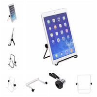 Wholesale US Stock inch inch Tablet Stand Holder Iron Folding Adjustable Desktop Stands for quot quot inch Tablets Tablet PC Black White