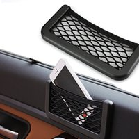 Wholesale Car Pocket Holder for Phone Glass Universal Seat Side and Back Organizer Stowing Tidying With Tensioning Belts Auto Storage Box