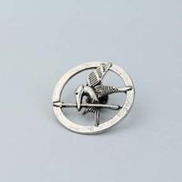 rep - The Hunger Games Catching Fire Mockingjay D Prop Rep Pin Brooch Bronze