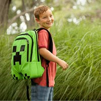 Wholesale School Bags Minecraft Backpack Game My World Top Quality Children Kids Boys Mochila Double Shoulder Bag Block Coolie Strange PVC Waterproof
