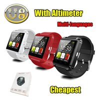 Wholesale Bluetooth Smartwatch U8 U Watch Smart Watch Wrist Watches for iPhone Samsung Note HTC Android Phone Smartphones