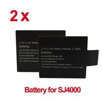 Wholesale 2pcs V Li on mAh Backup Rechargeable Battery for SJ4000 SJ Camera Sports Action Camera Accessories