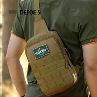 army surplus - New Molle Tactical Outdoor Camouflage Chest Pack Sport Single Shoulder Man Crossbody Army Surplus Gear Equipment