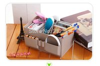 aluminum mail boxes - Plastic storage box desk organizer beauty make up new decoration stationery Free mail