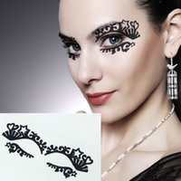 best designed tattoos - Best Deal Fashion Temporary Eye Tattoo Eyeliner Eyeshadow Face Transfer Sticker Design for Beauty pc