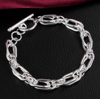 Wholesale Silver link chain bracelets for sale sterling silver punk chain charm bracelets for women and men silver jewelry YDH