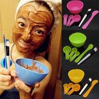 beauty bowl - DIY Face Mask Tool Kit Homemade Facial Skin Care Mask Beauty Set Bowl Stick Brush Gauges