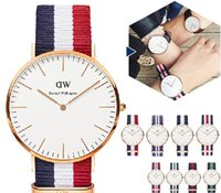 Wholesale 2015 Top Brand Luxury Style Daniel Wellington Watches DW Watch For Men Nylon Strap Military Quartz Wristwatch Clock Reloj hombre mm