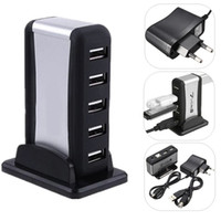 Wholesale New Universal High Speed USB Port Hub AC Power Adapter for PC Laptop M2 CAS_31I