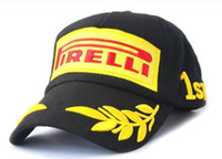 Wholesale F1 racing motorcycle baseball cap peaked cap for Pirelli embroideried car driver team hat men sport sunhat