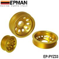 Wholesale EPMAN HQ type Light Crank Engine Under Drive Pulley Set Aluminium Alloy For Nissan Z Fairlady EP PYZ33