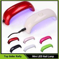venda por atacado nail art machine-2016 Novo Mini LED Nail Dryer Nail Art Lâmpada UV Light 9W LED Light Curing Nail Dryer Machine