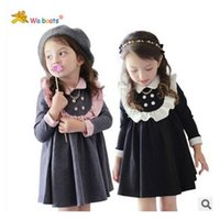 dolls clothes - Girl children clothes spring girls cute College Wind doll lace collar Dresses dandys