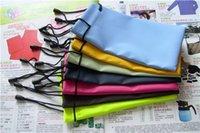 venda por atacado caso bolsa de couro blackberry-1000pcs / lot frete grátis couro impermeável óculos de plástico bolsa óculos suaves saco vidros capas de telefone celular caso