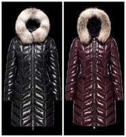 badge embroidery designs - New Women s Upscale down jacket Winter Jacket Coat Thicken Slim Female Fur Collar Long Down Coat Discount Parka