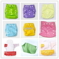 Wholesale Cheap Baby Diapers Plain Color Babyland Cloth Diaper Pockets