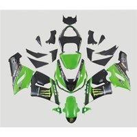 Wholesale Fit Kawasaki ZX6R Fairing Kit Year ZX636 Green Black Motorbike Bodywork Fashion Painting Racing ABS Cowling