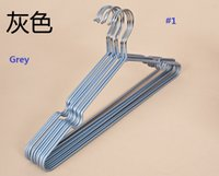 Wholesale PVC Coated hanger coated anti skidding clothing hangers for clothes