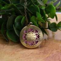 Wholesale Vintage Diffuser Locket Necklace Essential Oil Perfume Body Chain Diffuser Pendant with Colorful Diffuser pads p