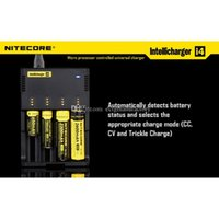 Cheap Drop Ship 4 in 1 Intellicharger Nitecore I4 Charger Universal Charger for CR123A 16340 18650 18500 14500 26650 Battery E Cigarette in stock