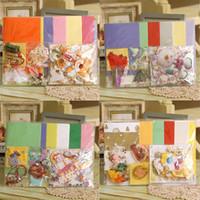 bear greeting cards - 18 cards envelopes Handmade cute christmas animal bear greeting card making kit for kids children series