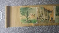 ancient chinese calligraphy - wo old Chinese ancient exquisite Erotic Arts erotic nude painting scroll