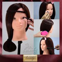 Wholesale 2015 Salon Cosmetology Training Head Face Makeup Eyelash Practice Head Mannequin Free Clamp C10