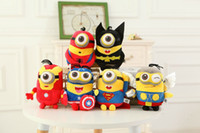 minion - 120PCS The Minions Despicable Me Plush Toy Stuart Kevin Bob Super Heroes The Avengers Stuffed Dolls Captain America Iron Man Batman Gifts