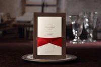 Cheap Invitations & Invitation Buckles Wedding Invitations Best Folded Brown Invitation Cards