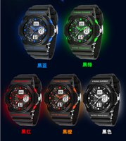 Wholesale latest fashion water resistant sport wrist watch with Luminous for students