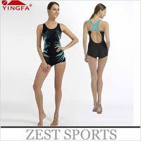 Wholesale Women children girl Professional training swimwear sports Siamese boxer significant leg length Slim