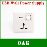 Wholesale Singal USB Wall Socket for Phones MP3 MP4 USB Wall Charger Plug in V V