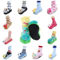 bamboo kids shoes - Baby Kids Cartoon First Walker Stockings Shoes Floor Socks Leather Sole Animal Style Baby Shoes Styles Choose FYT3