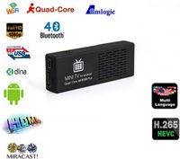 Wholesale 10 Pieces Free DHL GB GB MK808B Plus TV Dongle Amlogic M805 Quad Core Android HDMI TV Stick Bluetooth XBMC Miracast DLNA