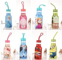 Wholesale 10pcs new Cartoon children plastic cups froze Water Bottles Water glass Size ml