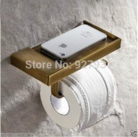 antique wall phones - And Retail Antique Brass Toilet Roll Paper Rack wiht Phone Shelf Wall Mounted Bathroom Paper Holder