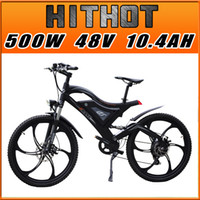Wholesale PRE SALE Addmotor HITHOT H2 Sport Magnesium Integral Wheel Black V W AH quot Fork Suspension Mountain Electric Bicycle