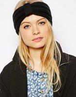 Wholesale New Fashion Lady Crochet Headband Knit Hairband Flower Winter Women Ear Warmer Girl Headwrap