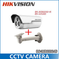 hd ip camera - Hikvision MP DS CD2232 I5 with bracket IP camera HD network DS ZJ camera CCTV camera support POE IP66