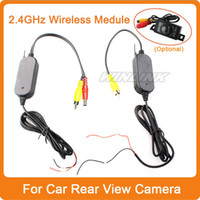 Wholesale 2 Ghz Wireless Camera Video Transmitter Receiver adapter Car Rear View Camera car Reverse parking backup cam Monitor