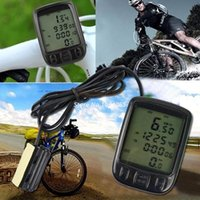 Wholesale TOP SALE Functions LCD Digital Speedometer Cycling Bike Bicycle Computer Odometer Velometer A5