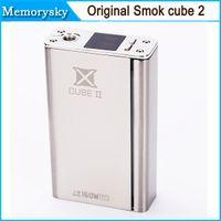 Wholesale 100 Original Smok Xcube II box mod Xcube temperature control smok x cube II w TC mod VS smok Xpro M80 plus DHL free