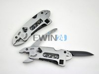 Wholesale 4 In Camping Adjustable Wrench Jaw Screwdriver Pliers Knife Multi Tool Set Survival Gear New and Hot Selling