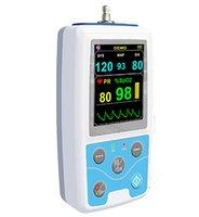 achat en gros de mapa pression artérielle-DHL livraison gratuite CONTEC ABPM + SpO2 Moniteur de pression artérielle ambulatoire + automatique 24h BP mesure PM50 Holter Surveillance de la pression artérielle PM50